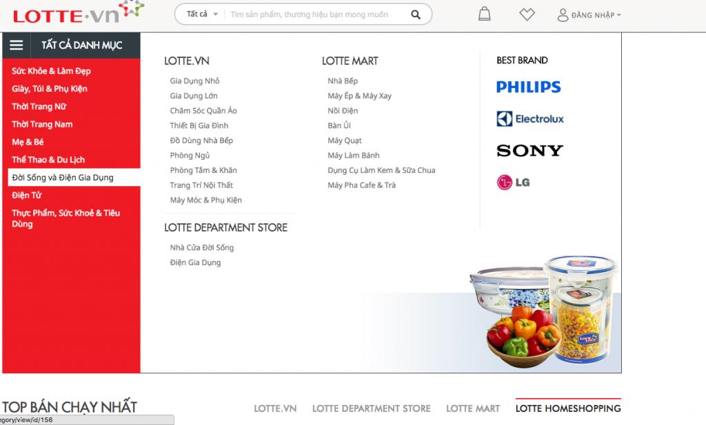 Điện gia dụng, thực phẩm sinh hoạt là những sản phẩm bạn có thể mua tại Lotte