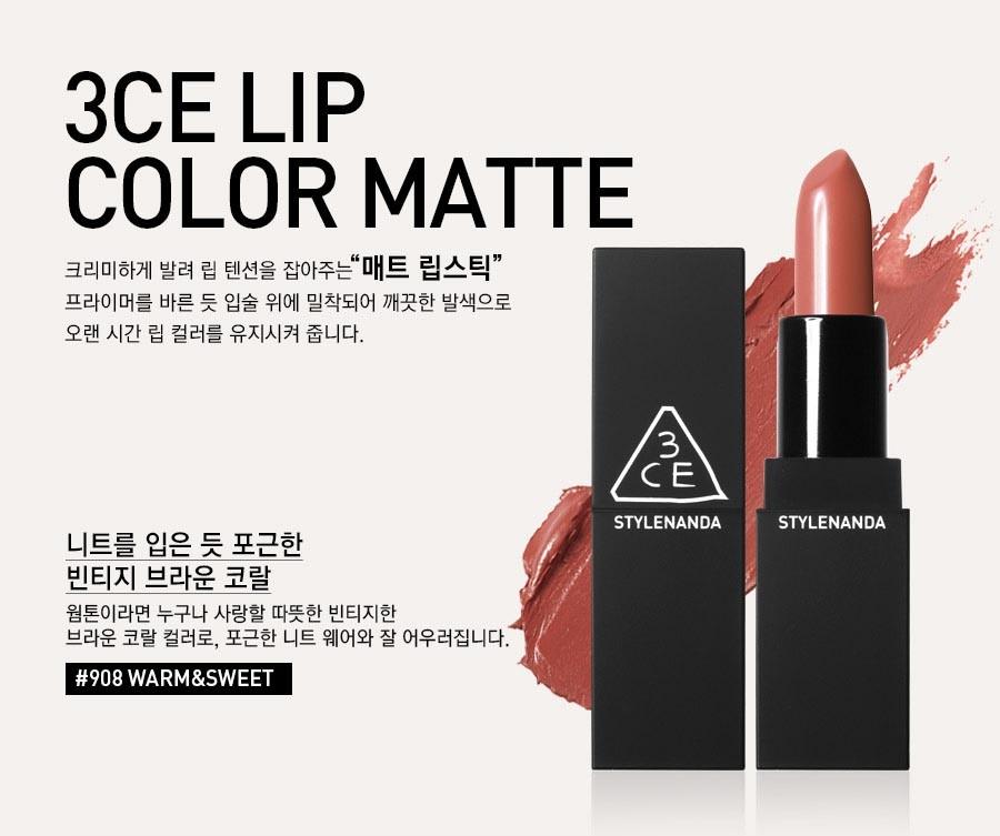 Son 3CE Matte Lip Color hiện vẫn là một trong những dòng son bán rất chạy