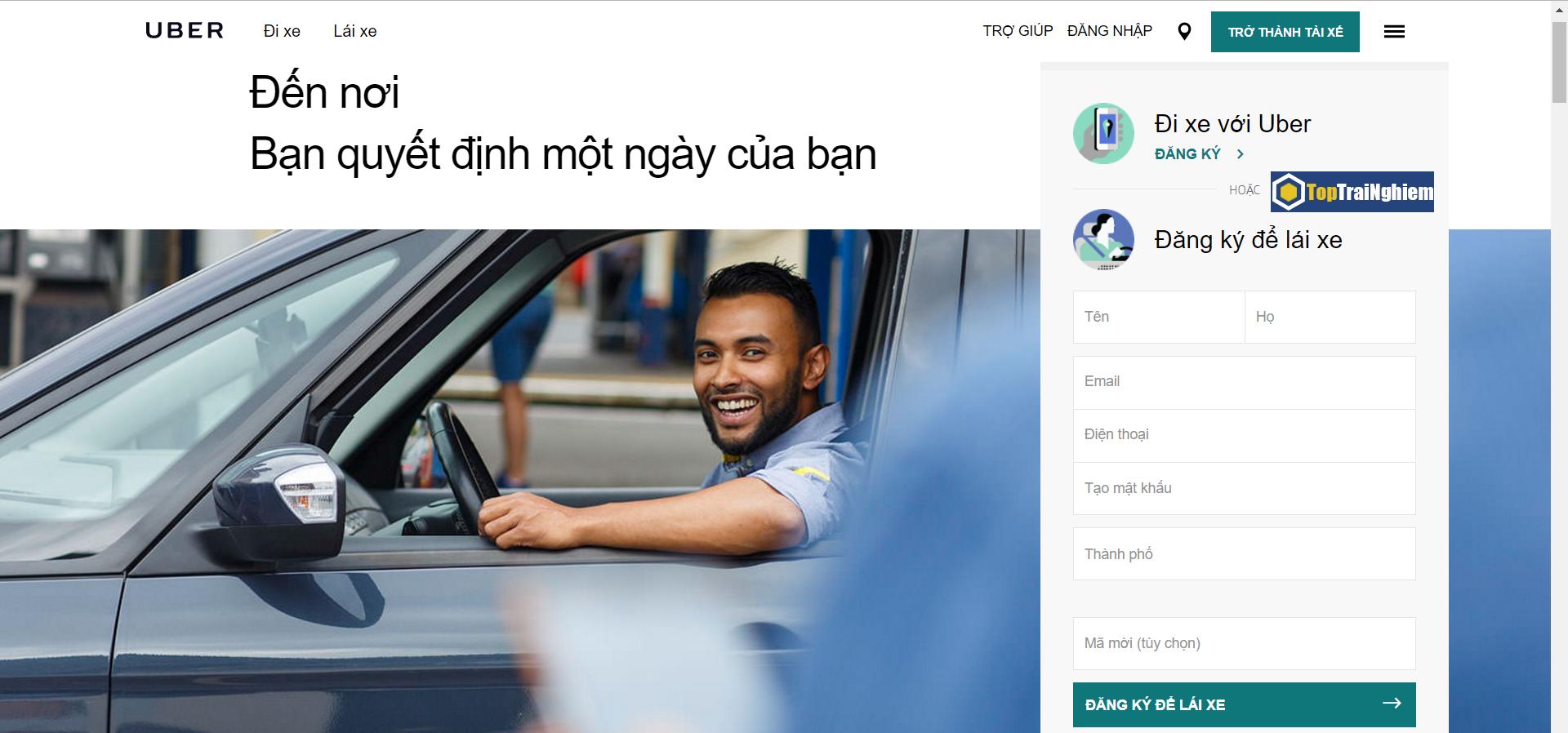 Đăng ký lái xe Uber để có những hành trình đáng nhớ