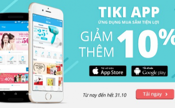 Mua hàng trên tiki qua app